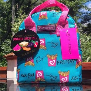 Betsey Johnson Fry-Yay Lunch Tote NWT